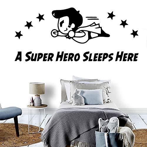 yaonuli Abnehmbare Hero Schlaf Hier wasserdicht wandaufkleber wohnkultur Wohnzimmer Schlafzimmer wanddekoration Home decoration54x122cm