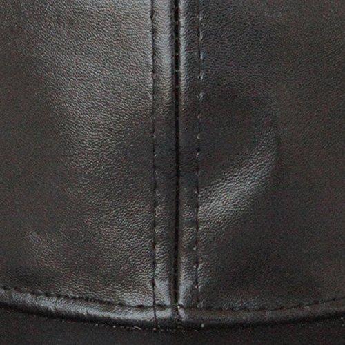 59cf284d704 54% OFF on ILU Plain Black Snapback Cap   Baseball Caps   Hip Hop Cap on  Amazon
