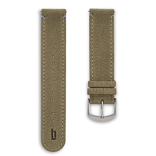 Lilienthal Berlin - Made in Germany – Wechselarmband, vegetabil gegerbtes Leder L1 (Farbe: khaki / S