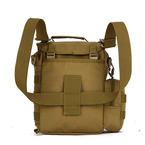 FlyHawk Taktisch Molle Beutel Umhängetasche Outdoor Kamera Tasche Daypack Handtasche Schultertasche K307-Braun