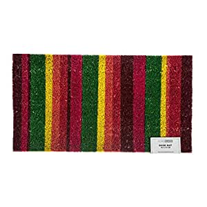Multi Coloured Striped Doormat