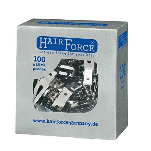 Hair Force Métal klipse 3 pieds, 1er Pack (1 x 100 pièces)