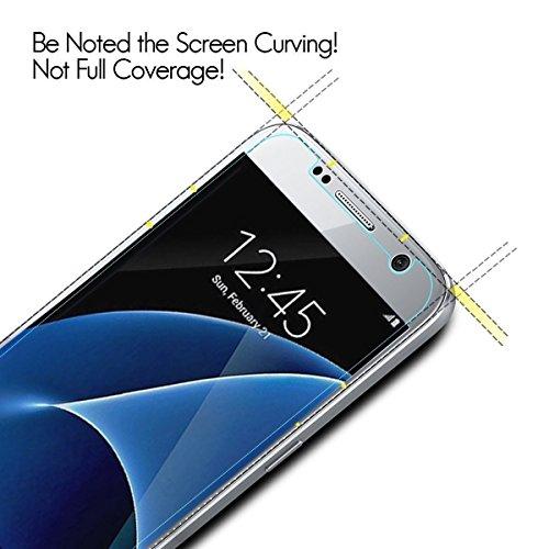 [3 Stück] Samsung Galaxy S7 Panzerglas Schutzfolie, Quiusky Displayschutzfolie für Galaxy S7 Panzerfolie Displayschutz Gehärtetem Glass 9H Härtegrad - 3
