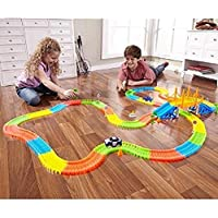 TH THUTHO Magic Race Tracks Bend Flex and Glow Track Set -165 Pieces