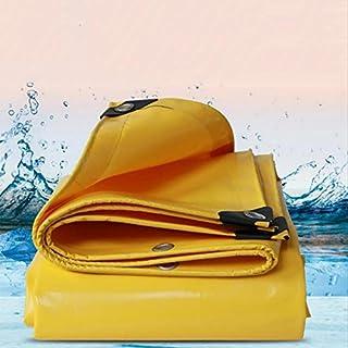 Zfggd PVC Yellow Tarpaulin For Garden Pond - 500g/㎡ - 0.5MM (Size : 5x6M)