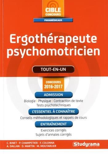 Ergothérapeute-psychomotricien - Concours 2016-2017
