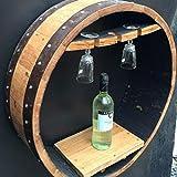 Cheeky Chicks Madera Maciza de Roble Barril de Whisky Hecho a Mano Vino Vino Estante