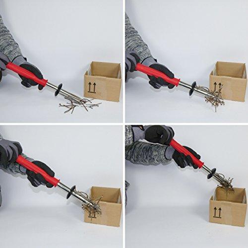 Magnetwerkzeug / Werkstattmagnet / Spanmagnet zur schnellen und sicheren Entfernung von Eisenteilen wie Drehspäne, Frässpäne, Sägespäne etc. aus Eisen und Stahl - 3