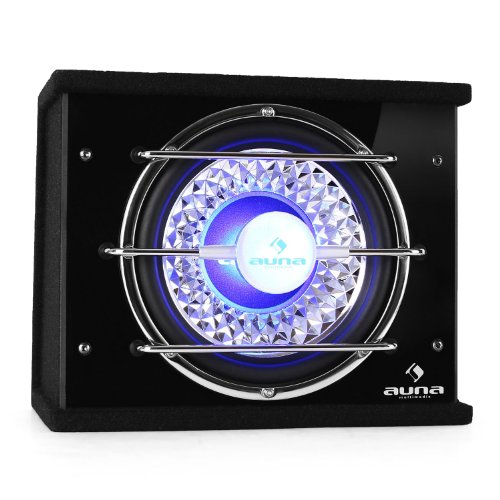 auna CB250-25 • Auto-Subwoofer • Subwoofer Box • 600 W max. Leistung • 25 cm (10