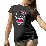 Hello Kitty Hi Schwarz T-Shirt für Damen Medium
