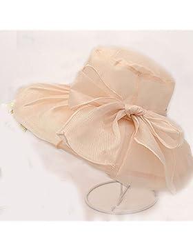 LVLIDAN Sombrero para el sol del verano Lady Anti-Sol Playa tapa de tela beige