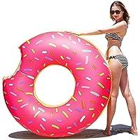 Samione Donut Anillo de natación Inflable, Flotador Gigante Buñuelo Piscina, Verano natación Anillos,