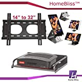 """HomeBliss Combo Of LED TV Fixed Stand 14"""" To 32"""" And Set Top Box Stand And Mobile Phone Metal Stand/Holder For Smartphones"""