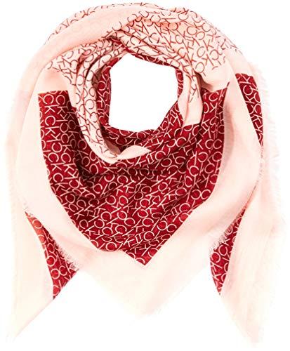 Calvin Klein Damen Schal CK Allover Check Scarf, Rot (Red Rock 628), One Size Preisvergleich