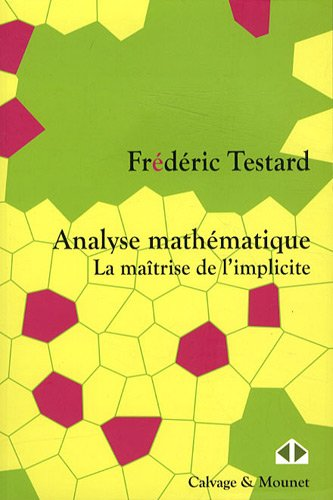 Analyse mathématique. La maîtrise de l'implicite par Frédéric Testard