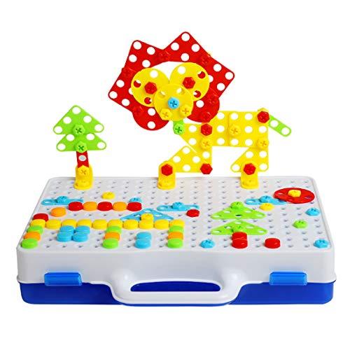 Foxom 237Pcs Mosaique Enfant - Jeu de Construction Mosaique Jouet...