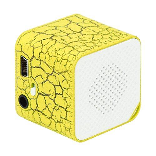 Gaddrt - Mini lettore MP3 USB, 32 GB, scheda Micro SD TF, Gelb, 3cmx3cmx3cm