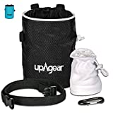 upAgear 4 in 1 Rock Climbing or Bouldering Chalk Bag set | ANTI LEAK design with LARGE POCKET | Includes FREE Chalk Ball