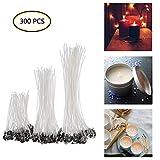 Yontree 300 Stück Kerzendochte DIY Candle Wick Flachdocht für die Kerzenherstellung (90 mm,150 mm und 200 mm)
