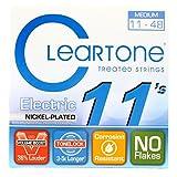 Cleartone CL9411 Jeu de Cordes pour Guitare Electrique Bleu