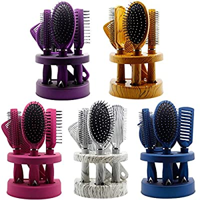 New Pcs Ladies Unisex Mirror Hair Brush Comb Set Women Travel Gift Blister Pack