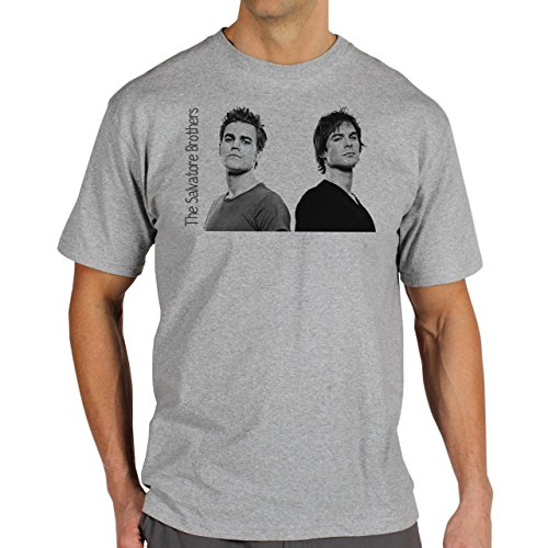 The Vampire Diares The Salvatore Brothers Background Herren T-Shirt Grau