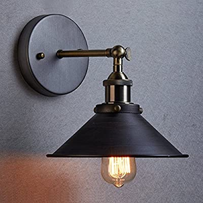 icase4u Vintage Metal Industrial Wall Light Rustic Sconce Lamp Cafe Lounge Edison Blub