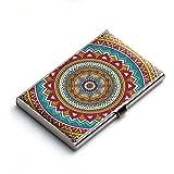Heartzy Abstract Mandala Pattern Card Holder