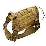 Leezo Hundeweste, Hundegeschirr, verstellbar, Netzgewebe, 1000D Nylon, leichte Jacken für Haustiere, M/L/XL L braun