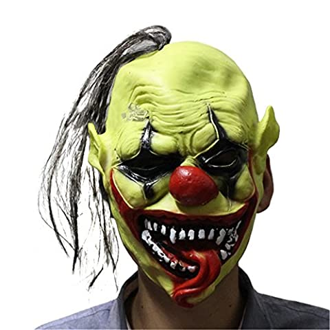 Kasit 1PC Halloween Horror Full Face Latex Mask Scary Halloween Party Props