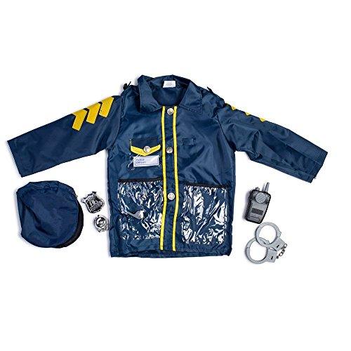 Dress Up America 701 - Kostüm Polizeibeamter, 3-7 Jahre (Kleinkind Mädchen Polizist Kostüme)