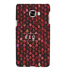 For Samsung Galaxy C5 red ball ( red ball, ball, red stone, red pattern ) Printed Designer Back Case Cover By CHAPLOOS