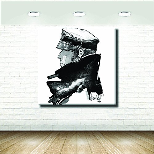 Bild Comics und Cartoons - Hugo Pratt's Corto Maltese - 60X60+Rahmen cm 4x2