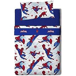 Marvel Spiderman Juego de sábanas Algodón-Poliéster, Cama 80/95 (Twin), 200.0x90.0x25.0 cm 3 Unidades
