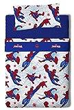 Marvel Spiderman Juego de Sábanas, Algodón-Poliéster, Multicolor, Cama 80/95 (Twin), 200.0x90.0x25.0 cm, 3 Unidades