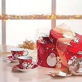 barbacado Kaffeeservice Weihnachten, Geschirr Partyzubehör, Tassen Weihnachtsmann