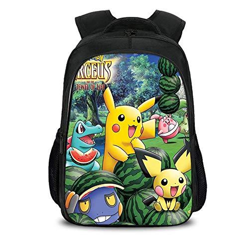 chulrucksack Pikachu 3D-Druck Cartoon Anime Bag Student Rucksack K-16inch ()