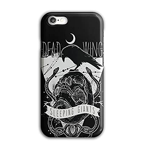 Mort Ailes corbeau Crâne En train de dormir Géant 3D iPhone 8Étui Pour | Wellcoda