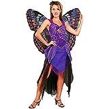 Damen Kostüm Schmetterling Fairy Blau Gr. S-M 36-38 (ohne Flügel)