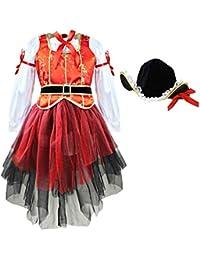 CHICTRY Déguisement Pirate Fille eanfnt déguisement Cosplay Halloween Noël  fête Tutu Robe de Danse+Chemiser 388efa51ec3