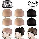 PIXNOR Perücke Caps Haarnetz Mesh Perücke Caps Neutral Nude Beige Schwarz Pack 7