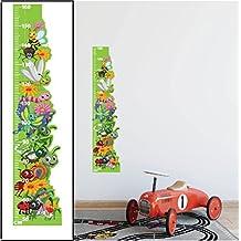Insectos altura tabla de crecimiento pegatinas de pared niños dormitorio Decor Art Decals–Vinilo extraíble con cm Medidas para niños y niñas entre 50–160cm