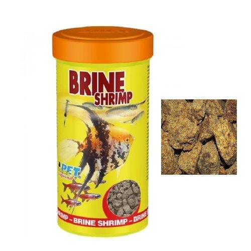 Dajana Brine Shrimp (artemie) - Adulte essiccate e congelate, artemia per tutti i tipi di pesci d'acquario, rettili e tartarughe (100 ml)