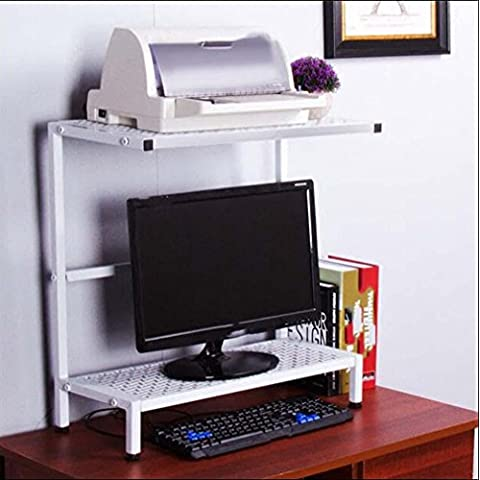 TBQING Visualizzare gli ascensori Double - layer stampanti Computer rack Desktop . white