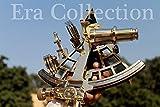 Latón sextante náutico marino sextante náutico Vintage pesado hecho a mano estilo antiguo barco trabajo astrolabio instrumento de navegación marítima