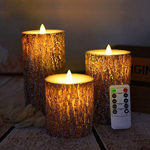 Jinli candela a lume di pino corteccia a lume di candela led elettronico a lume di candela a lume di candela adatto per la decorazione di nozze,pinebark