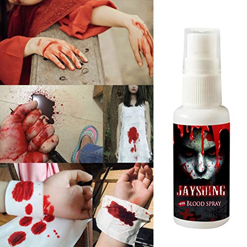 Yalatan Realistische Kunstblut Spray, Scary Halloween Make Up Splatter Blut Party Favors für Dekoration Zubehör (1 Flasche oder 5 Flaschen, 30 ml / Flaschen)