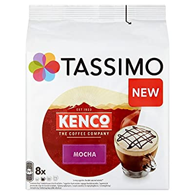 Tassimo Kenco Mocha Coffee Capsules, (Pack of 5, Total 40 pods, 40 servings) from JDE