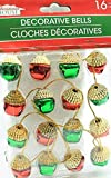 (Pack of 2) 16 Christmas House Ornament Acorn Shaped Decorative Jingle Bells (Red & Green) best price on Amazon @ Rs. 1713