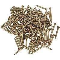 15mm runder Kopf Messing Antik Kupfer M/öbel Miniatur N/ägel Packung mit 100